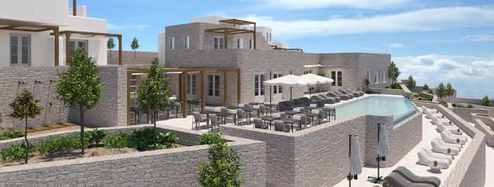 An artistic rendering of Mykonos Euphoria Suites