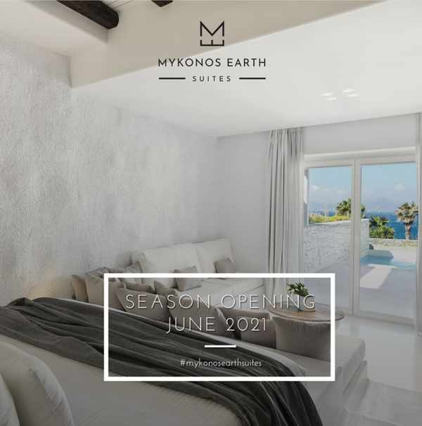 Mykonos Earth Suites hotel opening announcement for 2021