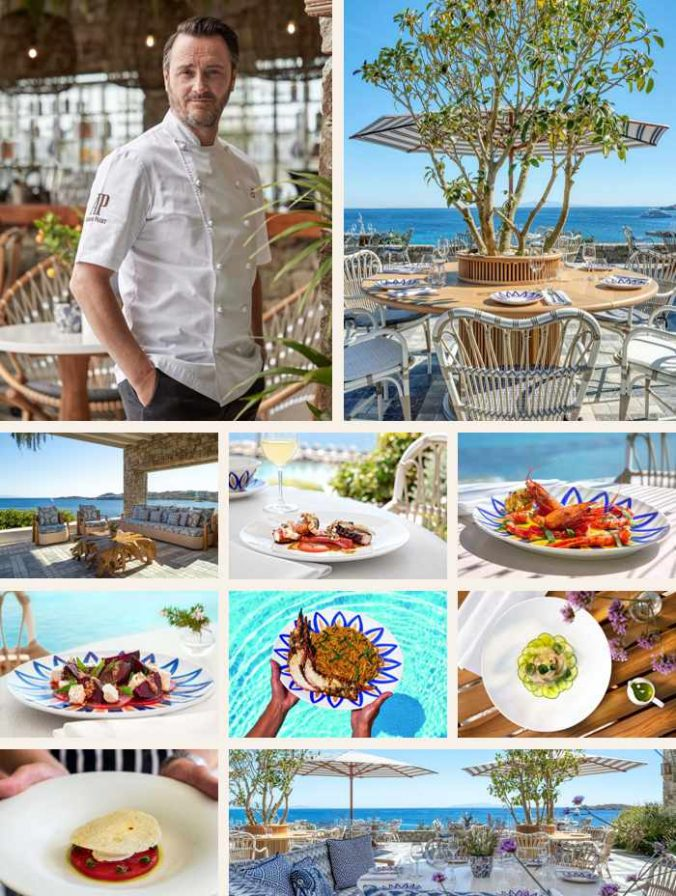 Mykonos Social restaurant on Mykonos