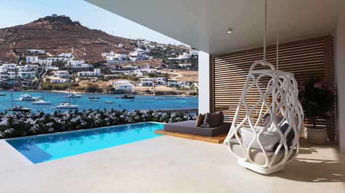 Honeymoon Suite at the Once in Mykonos Luxury Resort