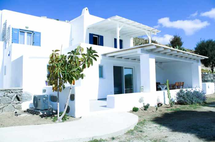 Exterior view of The Elaia House on Mykonos