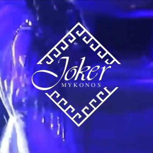 The logo for Joker Mykonos