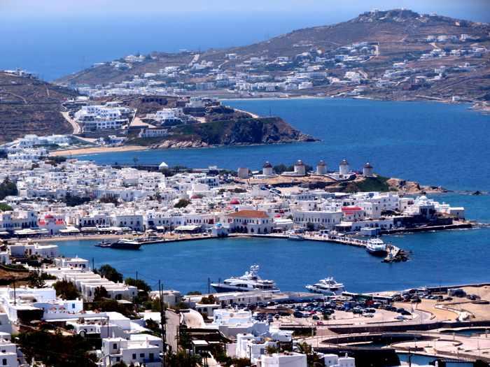 Mykonos Town on Mykonos island