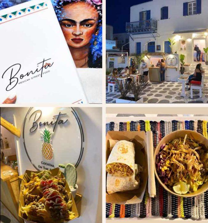 Bonita Street Food restaurant on Mykonos