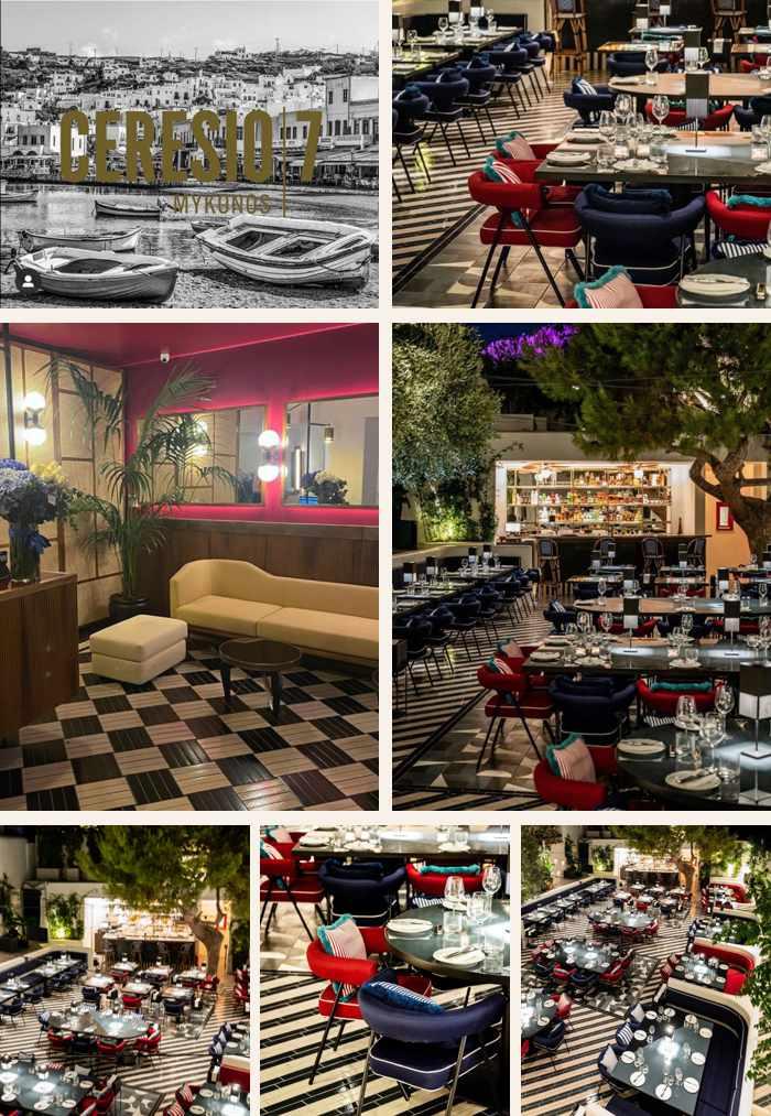 Ceresio7 restaurant on Mykonos