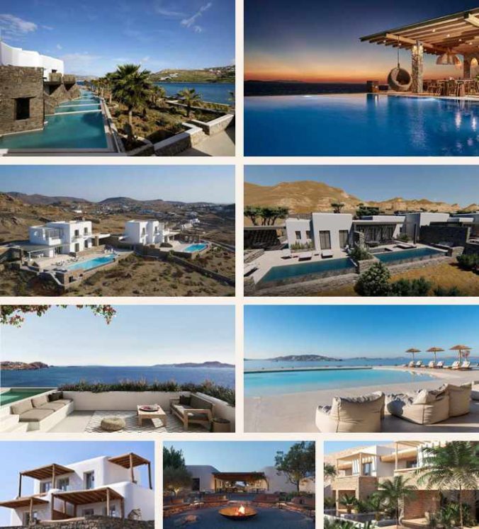 Some of the new hotels opening on Mykonos for 2021