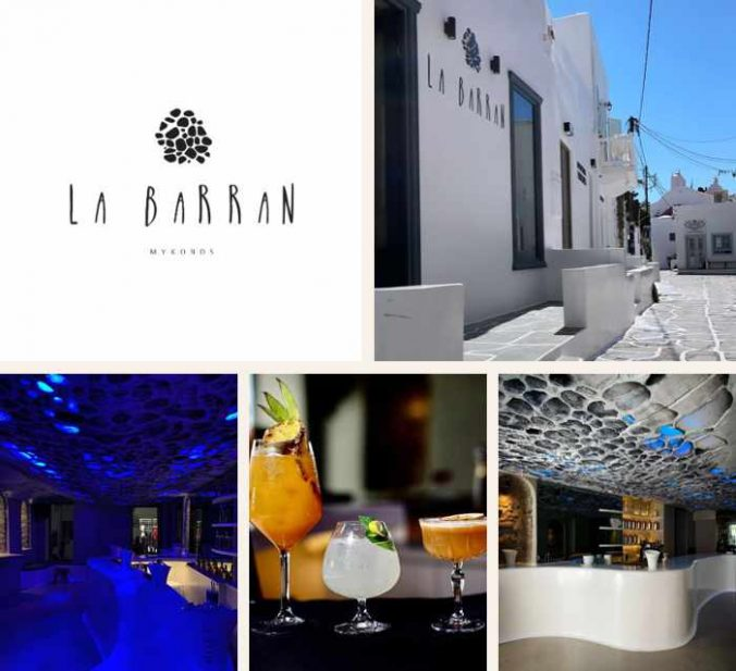 La Barran cocktail bar on Mykonos