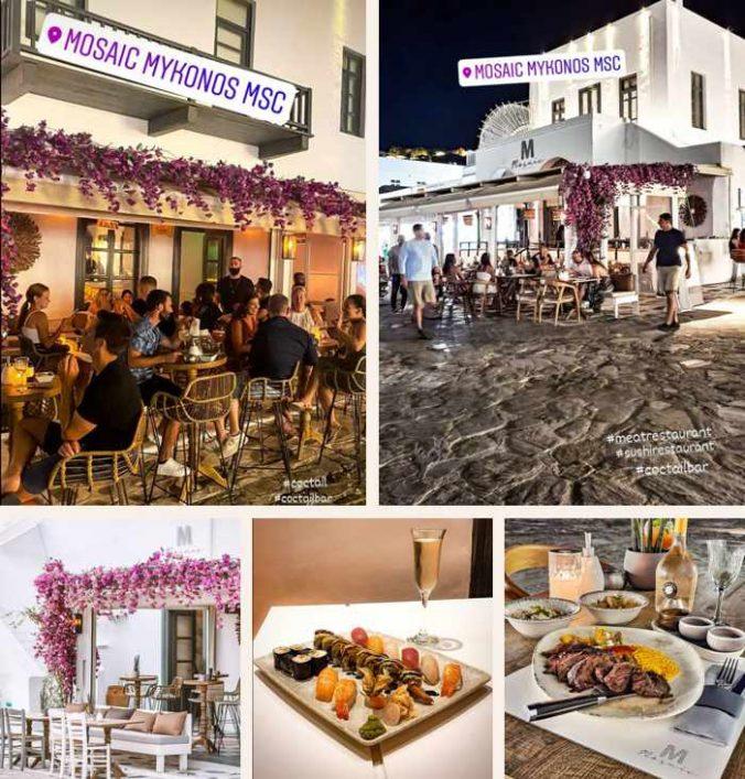 Mosaic Mykonos MSC restaurant on Mykonos