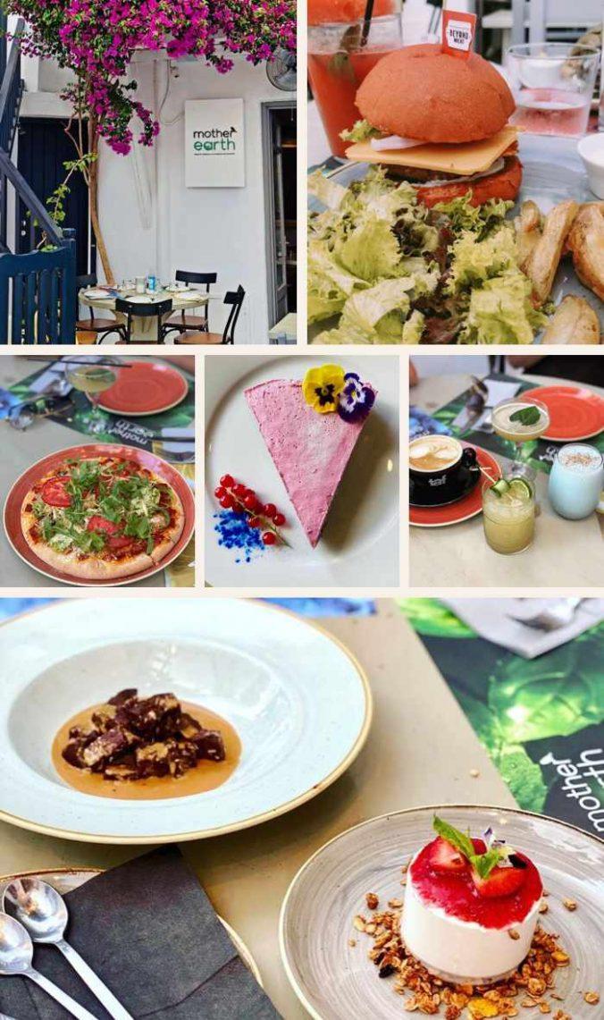 Mother Earth Healthy Vegan and Vegetarian Restaurant on Mykonos
