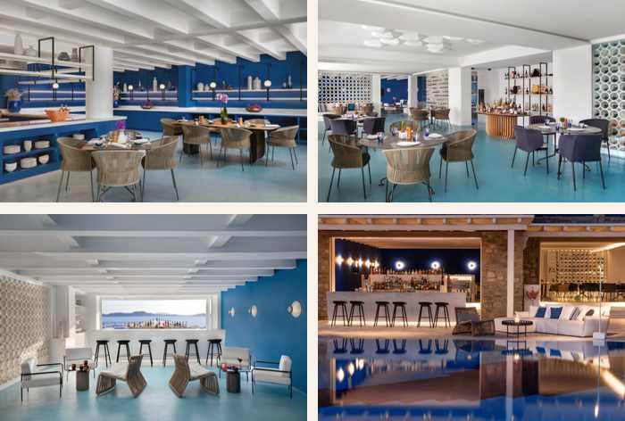 Nama Restaurant at the Mykonos Grand Resort on Mykonos