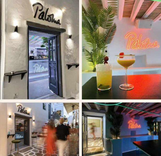 Paloma cocktail bar on Mykonos