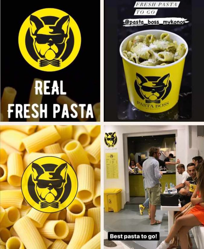 Pasta Boss takeout pasta restaurant on Mykonos