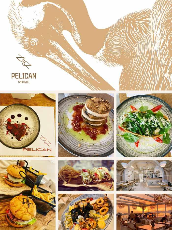 Pelican restaurant in Mykonos Town on Mykonos island