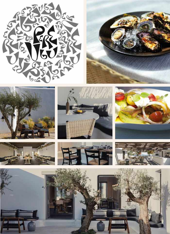 Pere Ubu Mykonos restaurant at Kalesma hotel on Mykonos