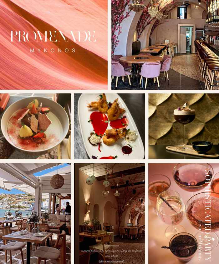 Promenade restaurant on Mykonos