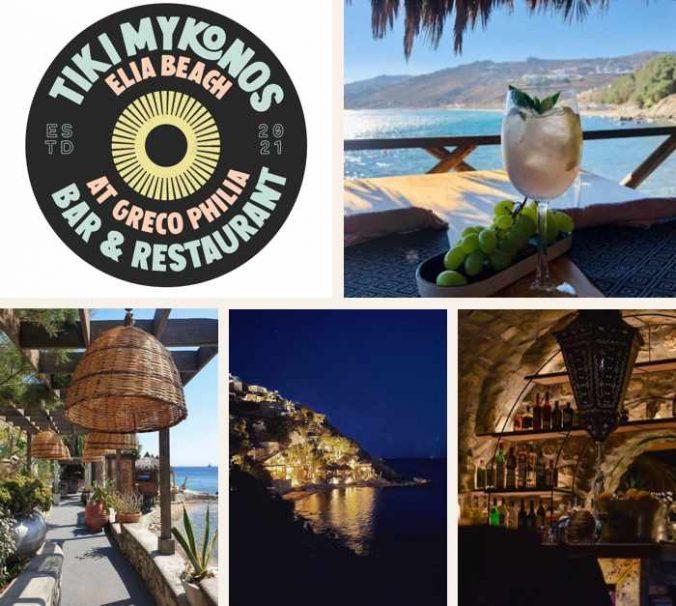 Tiki Mykonos bar and restaurant on Mykonos