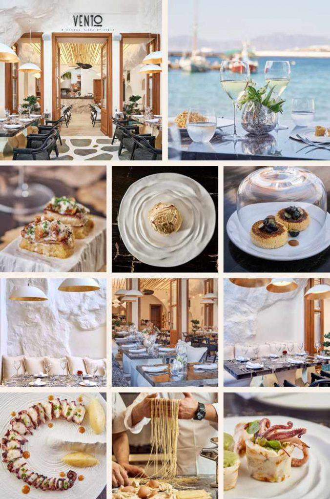Vento restaurant on Mykonos