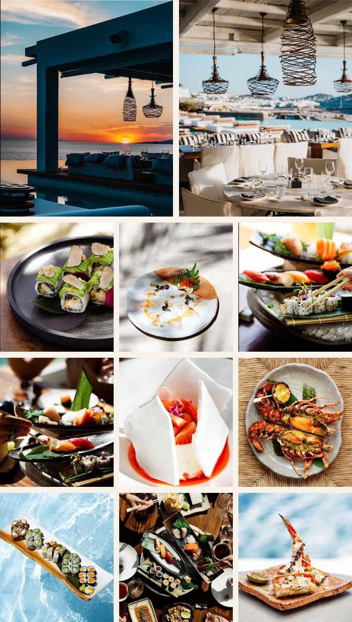 Zuma restaurant at the Cavo Tagoo Hotel on Mykonos