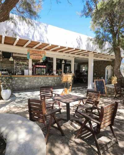 Agrari Beach Bar on Mykonos