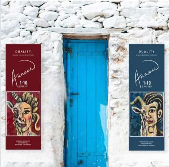 Arnaud Bourgain art exhibition in Mykonos July 2021